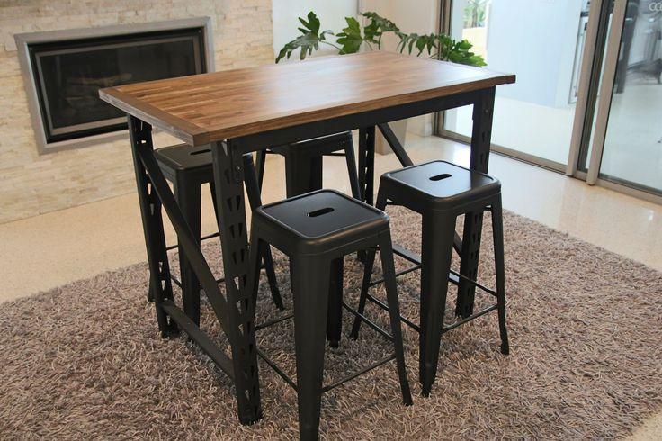 Rustic Industrial Table https://www.facebook.com/media/set/?set=a.247968108999394.1073741834.207739536355585&type=3