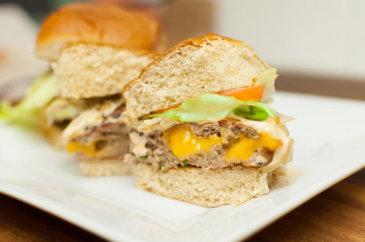 Juicy Lucy Turkey Burger Sliders