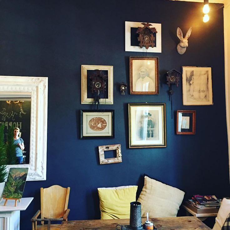 78 best ideas about dark blue walls on pinterest navy walls dark painted walls and navy office. Black Bedroom Furniture Sets. Home Design Ideas
