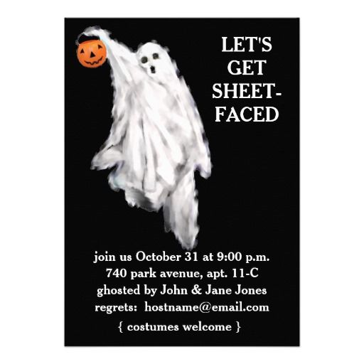 Adult Halloween Party Invitations Custom Announcements... I like this invitation better :)