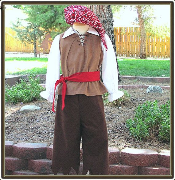Boys Pirate Costume 4 piece Small 4T von MarcellesCreations auf Etsy