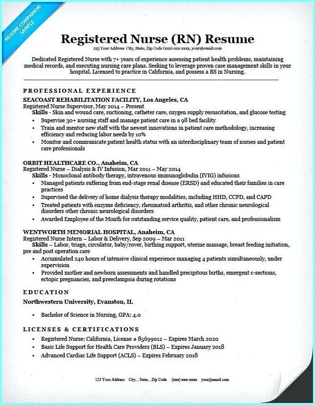 Sample Registered Nurse Resume Example Sample Registered Nurse Resume Example Registered Nurse Resume Nursing Resume Resume Examples