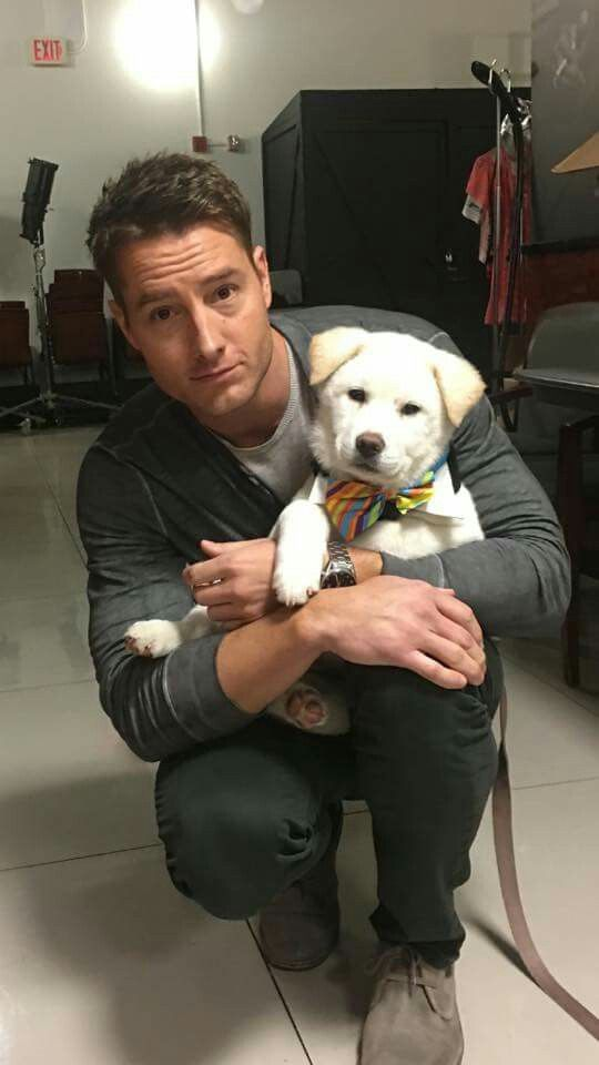 Kevin/ Justin Hartley and a dog