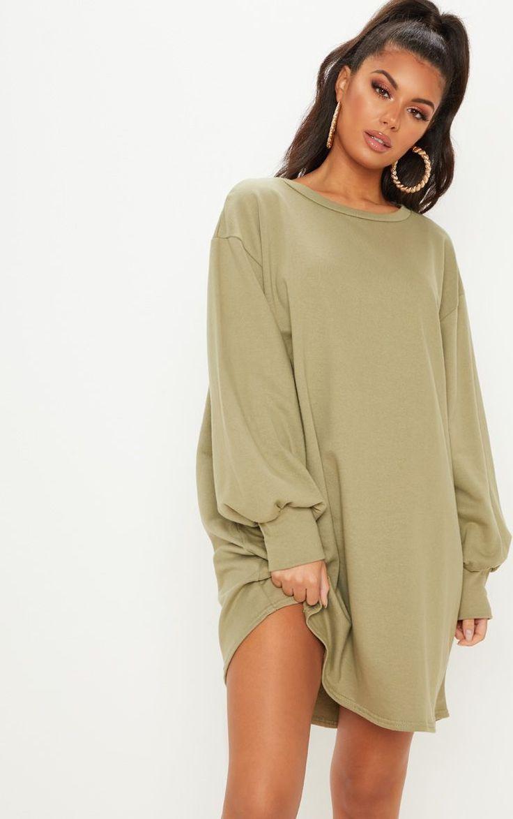 Sage Green Oversized Sweater Dress | Sweater dress oversized