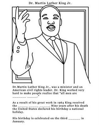 MLK printable and video
