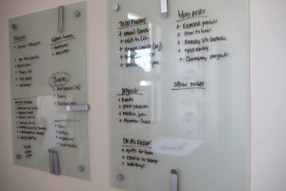 copying this awesome white board organization technique