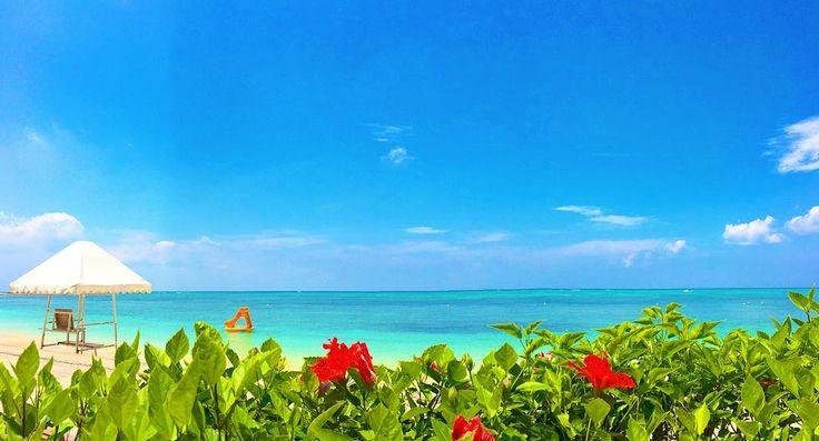 リザンシーパークホテル  昨日は最高気温29梅雨入り間近の沖縄蒸し暑かった  #okinawa #沖縄 #beach #海 #リザンシーパークホテル谷茶ベイ #summer #夏 #sunset #夕日 #ハイビスカス #三線 #エイサー #starbacks #沖縄フォト祭り by tingara_nana