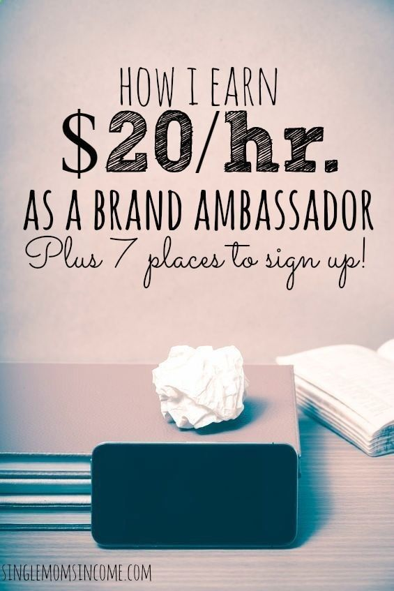 Earn Money From Home Being a brand ambassador is a great way to earn extra money on the side. Here are seven places to sign up and how I make this gig work. You may have signed up to take paid surveys in the past and didn't make any money because you didn't know the correct way to get started!