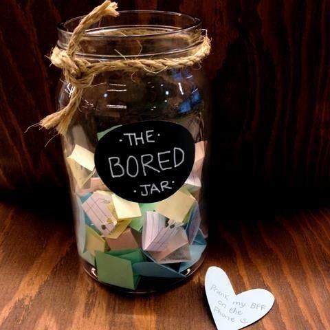 bored jar: pote de atividades para crianças entediadas