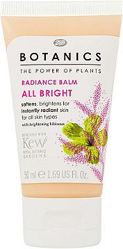Boots Botanics All Bright Radiance Balm Softens, brightens for instantly radiant skin.