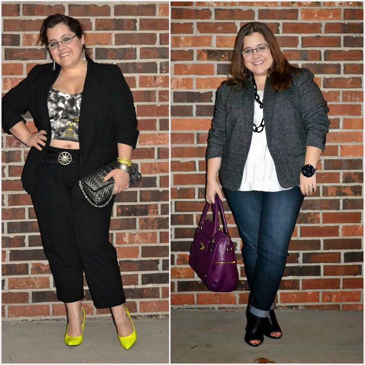 7 Petite Plus Size Rules to Break.  Short legs, big calves. Wearing cuffed jeans and booties.  Cute!