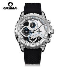 Men's watches. Luxury brand multi-functional fashion sports military quartz watch. Stainless steel waterproof 100m CASIMA #8203(China (Mainland))