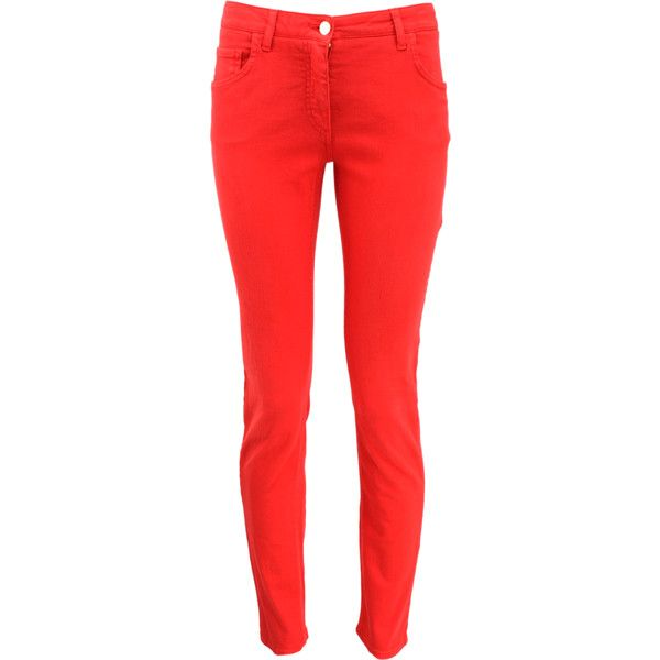 Etro Basic Stretch Jeans ($305) ❤ liked on Polyvore featuring jeans, pants, bottoms, calças, stretchy jeans, stretch jeans, etro, zipper jeans and red stretch jeans