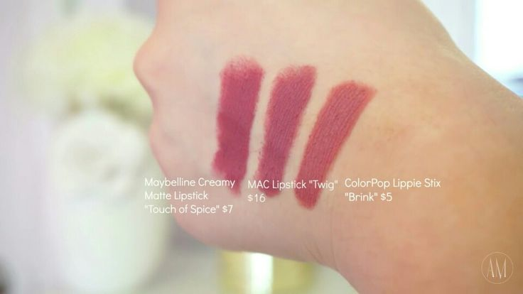 maybelline touch of spice vs mac teddy vs colourpop brink