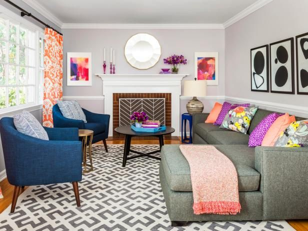 How To Make Your Living Room Modern, Fun, And Bright #hgtvmagazine Http: Design Ideas