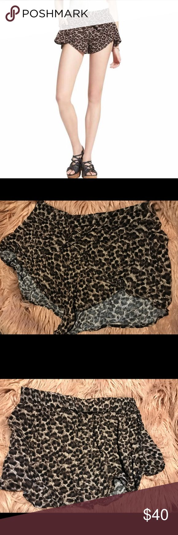 Free people cheetah print shorts Selling Free People cheetah print loose short shorts! These shorts are so comfy I could wear them to bed! They're super cute with boots, sandals and even sneakers. These shorts are are adorable for everyday or even a music festival! Free People Shorts