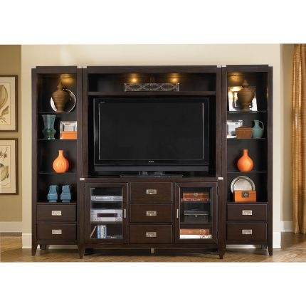Liberty Furniture Harbor Town Collection 4 Piece Entertainment Wall Unit Entertainment
