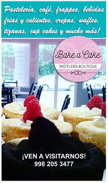 PASTELERÍA EN CANCÚN BAKE A CAKE Pastelería café en Cancún, donde puedes disfrutar exquisitos pasteles, frappes, bebidas frias o calientes, crepas, wafles, tizanas, sodas italianas, pastel de queso de bola, choux de crema ligera, tiramisu, cup cakes, profiteroles y mucho más. ¡VISITANOS!
