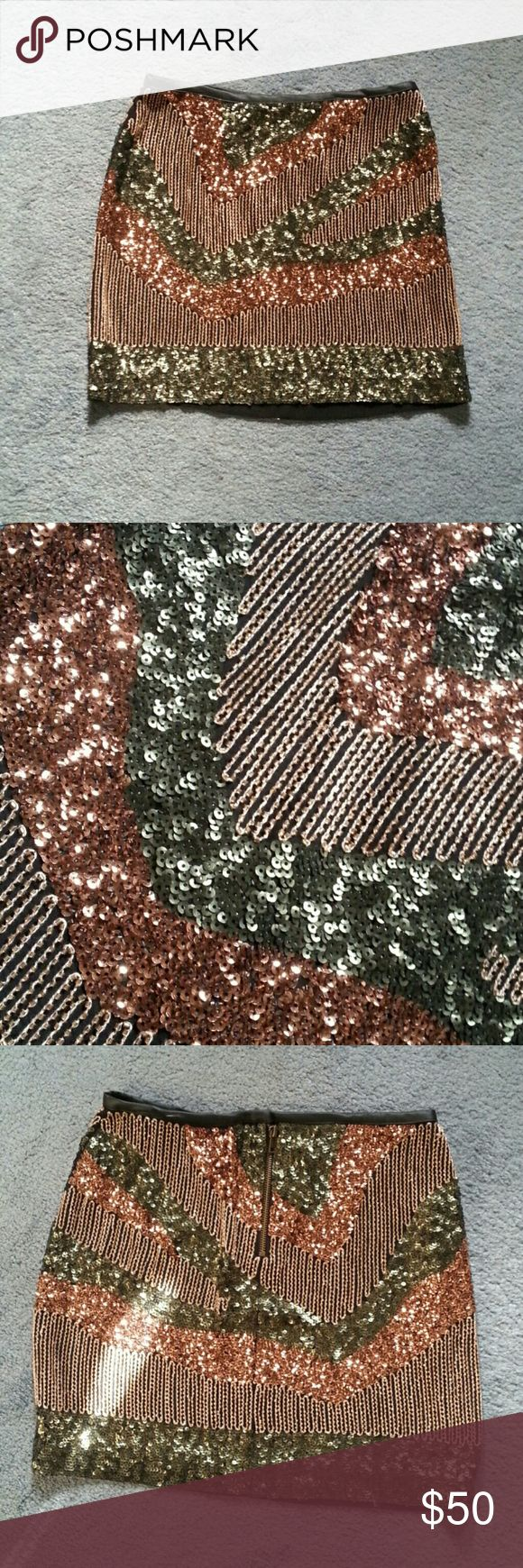 H&M NYE Sequin Skirt Never worn!! Brand new without tags. You will look amazing in this. Get it, girl. H&M Skirts Mini