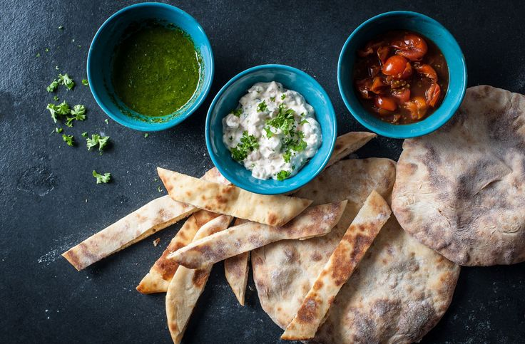 Adam Gray's flatbread soldiers with dips | Tesco Real Food