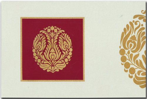 Really enchanting imported metallic card has nice prints on front panel, while cute design effect highlighted in separate manner on inserts and envelope too! It's magnificent..! Note: It can be customized as per your requirement.