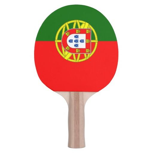 Table Tennis Portugal Team Paddle Ping Pong Paddle
