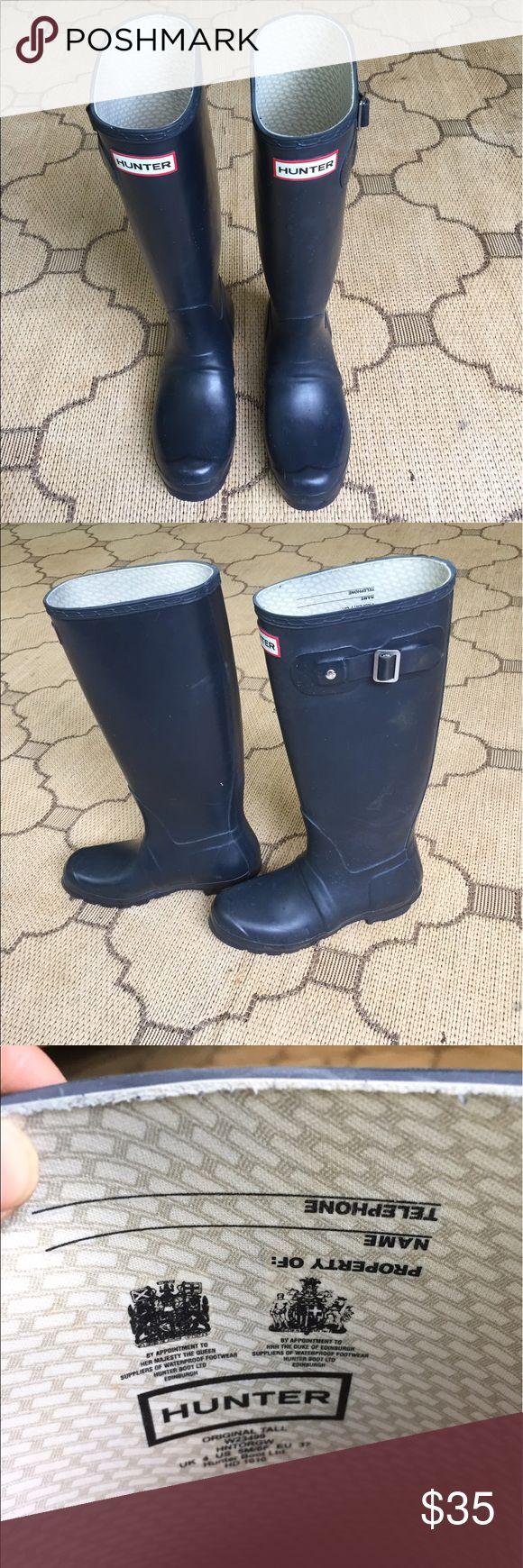 Navy Hunter Rain Boots Stylish dark navy rain boots. Perfect for Coachella, hurricanes and blizzards. Hunter Boots Shoes Winter & Rain Boots