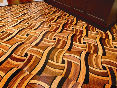 Wenge, Walnut & White oak mosaic
