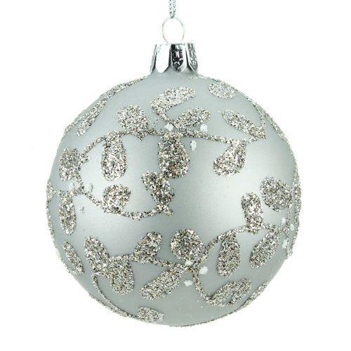 Christmas Direct - Pallina di Natale in vetro, con decorazione brillante a tralci di vite, colore: Argento Christmas Direct http://www.amazon.it/dp/B005W21IUW/ref=cm_sw_r_pi_dp_0tJUvb1S0Q07D