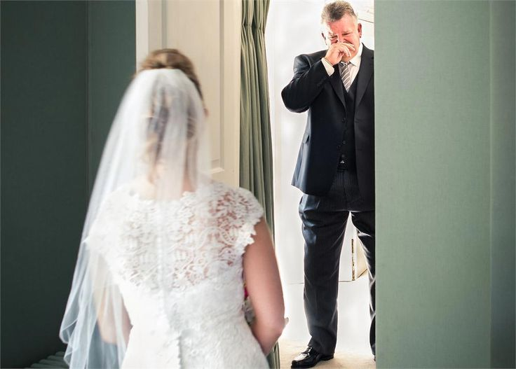 There's something super touching about seeing a grown man well up, and this snap of a dad fighting back tears as he sees his daughter on her wedding day is beautiful.