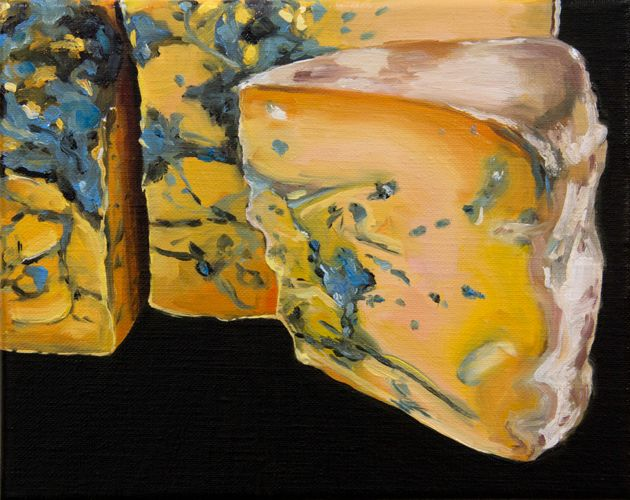 Cheese XV, oil on linen, Sally Kindberg, 2013