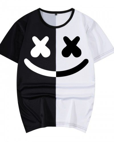 da866537 Dj Marshmello color block t shirt short sleeve | color block t shirt ...