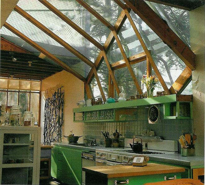 Dream Kitchen. hanna house in stanford, california by frank lloyd wright, 1937 #spaces