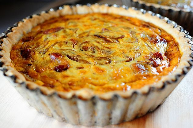 Cowboy Quiche by Ree Drummond / The Pioneer Woman~T~ Not just for cowboys. I love this with Caramelized onions, bacon, cheddar cheese and a touch of heat with some cayenne or hot sauce.