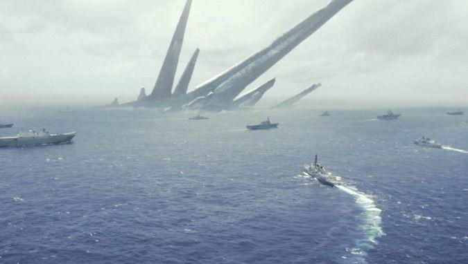 EUA mostra forças militares enviadas para explorar a megaestrutura alienígena relatada no meio do oceano Atlântico.