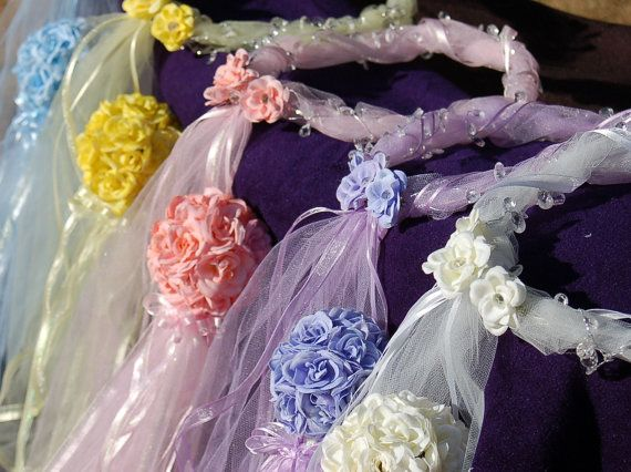 Five Handmade Fairy Wands and Matching Halos by PrettyKeepsakes,