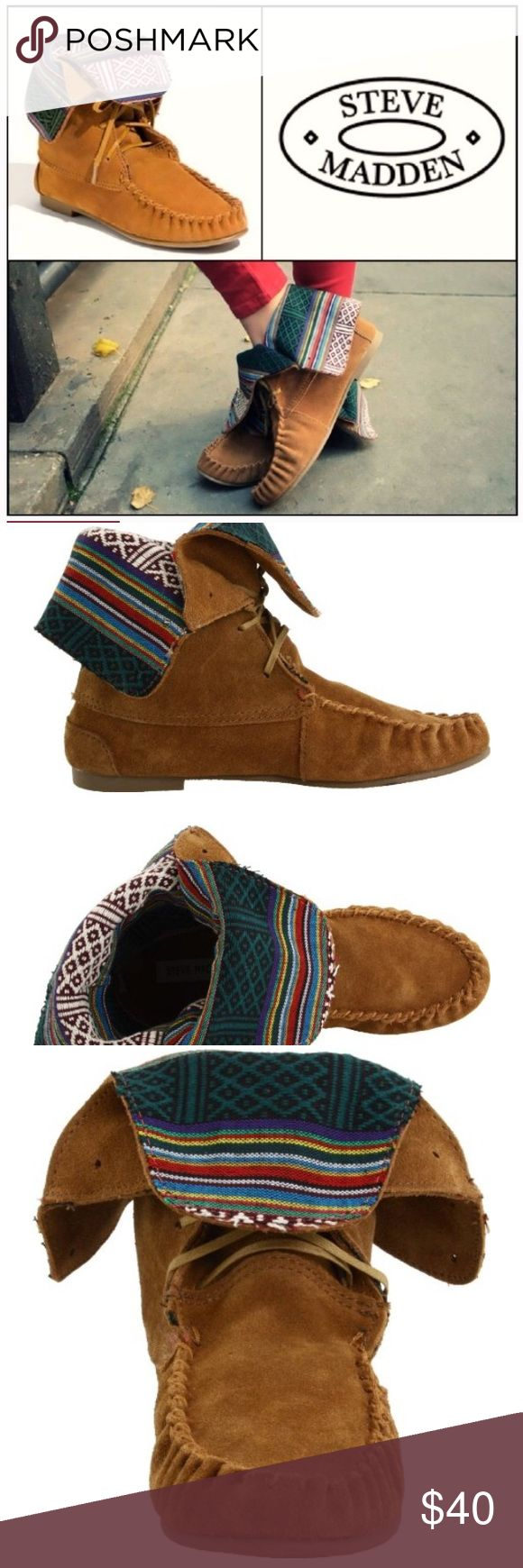 Steven Madden Moccasin Ankle Boots Steve Madden Tblanket Moccasin lace up suede Ankle Booties - worn twice! Like NEW condition! Steve Madden Shoes Ankle Boots & Booties