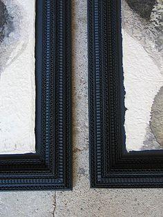 Картон Черный-РАМЫ для картин - Сесиль Шаппюи : уникальные предметы из картона. Зеркала, рамы для картин, светильники, предметы