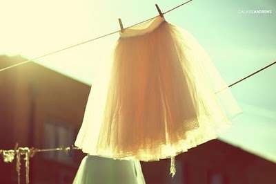 tulle on the clothes line