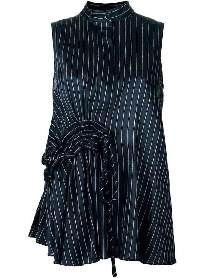 Blouse en soie, de Victoria Beckham - Shopping mode: les chemises rayées