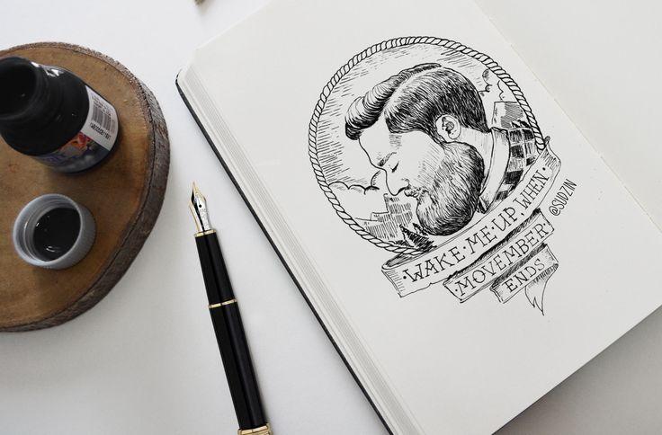 #movember   #beard # skrtch #art #ink #draw #draing #lumberjeck #борода  #небритябрь  #бородасразуда  #ламберджек  #рисунок  #портрет  #Portrait