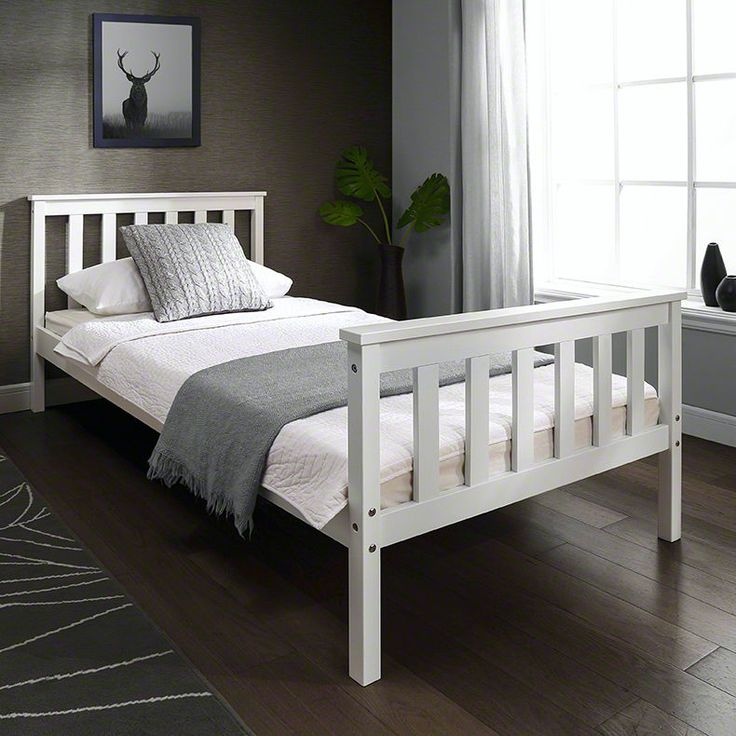 All Laura James beds are built for the UK market and conform to all UK regulations and standards. The stunning White Wooden Single Bed Frame with slats makes the perfect addition to any bedroom. This classic design creates a beautiful focal point for your bedroom. Finished in white, the stylish bed will compliment any interior. It's suitable for children or as a spare room bed. | eBay!