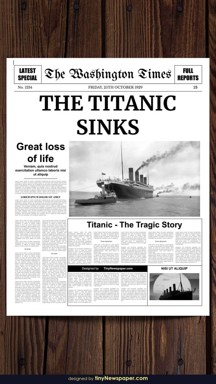Editable newspaper template google docs newspaper