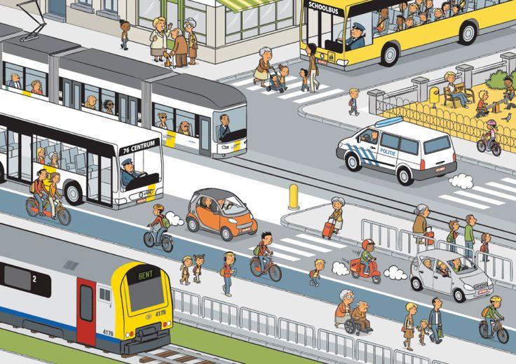 Trafik, otobüs, metro, yolcu, yaya
