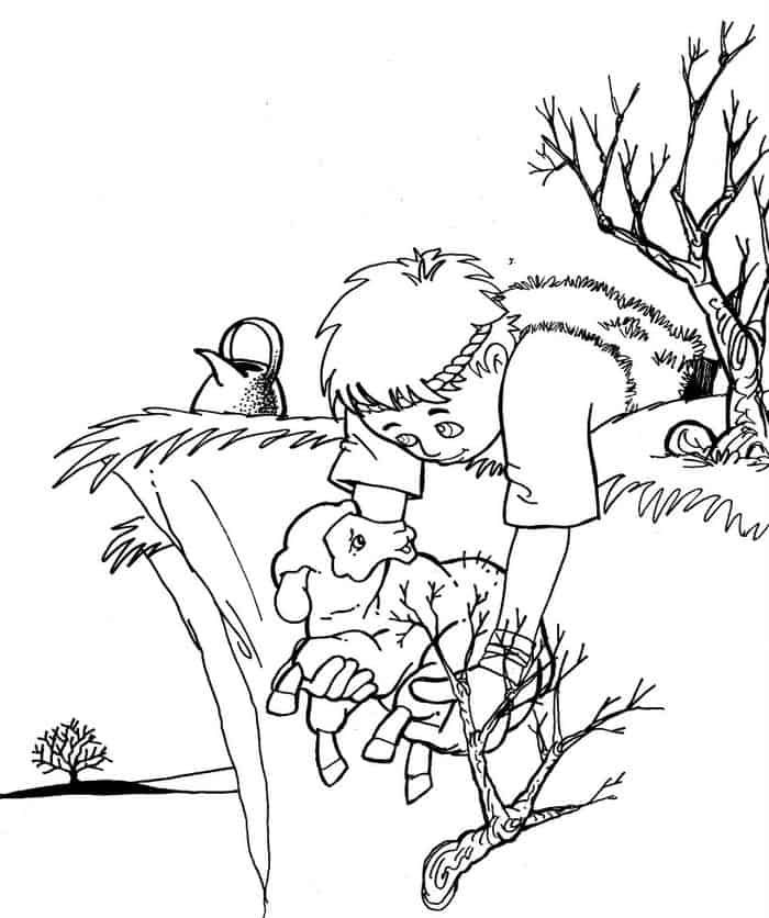 The Lost Sheep Childrens Activities Coloring Pages Bible Coloring Pages The Lost Sheep Coloring Pages