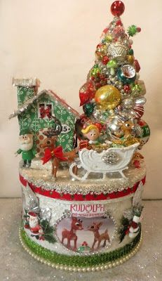 Ms Bingles Vintage Christmas: *~Rudolph the Red Nosed Reindeer Collage Box ~*
