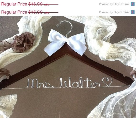HUGE SALE SALE / personalized Bridal hanger/ perfect bridal shower gift , u pick any name , bridal party gift on Etsy, $13.99