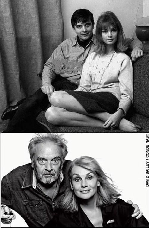 Jean Shrimpton and David Bailey