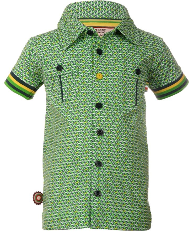 Chouette chemise manches courtes vertes par 4FunkyFlavours. 4funkyflavours.fr.emilea.be