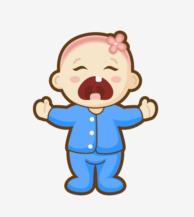 Big Crying Baby Cartoon Illustration Png And Psd Cartoon Illustration Baby Illustration Baby Crying